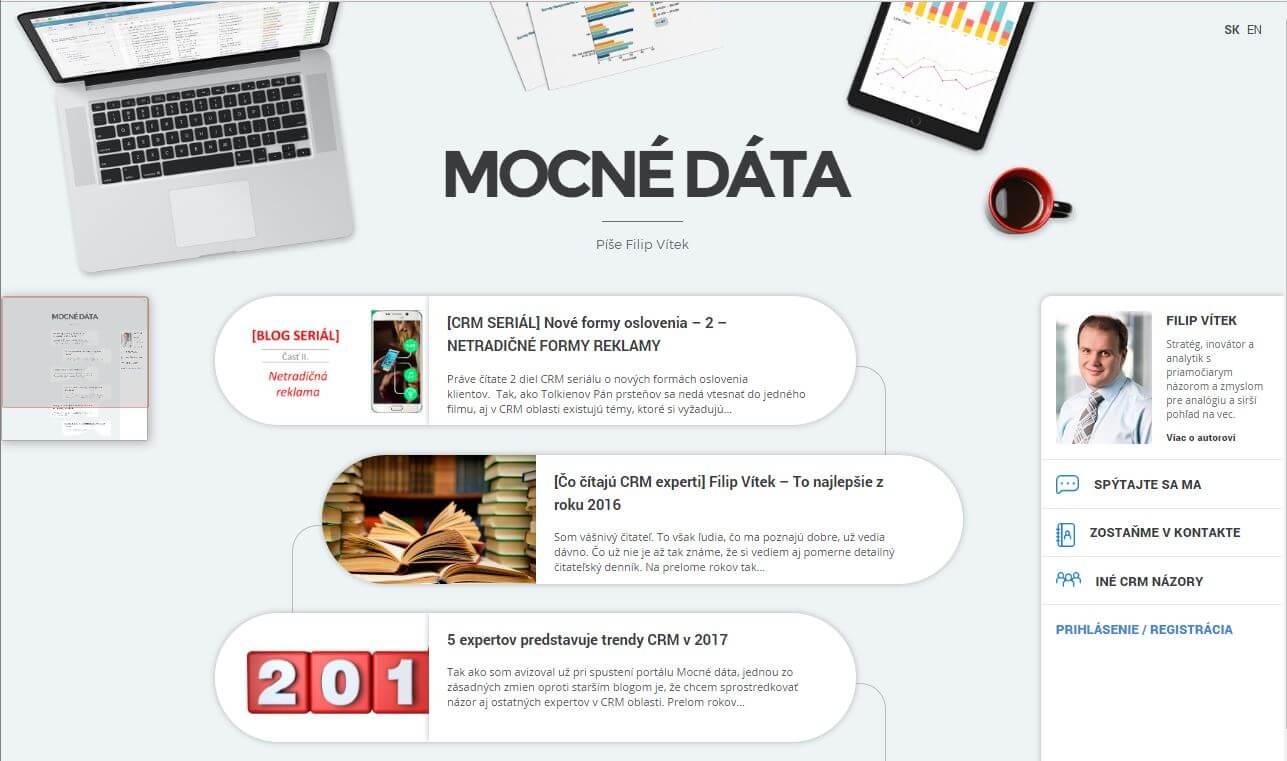 Web mocné dáta
