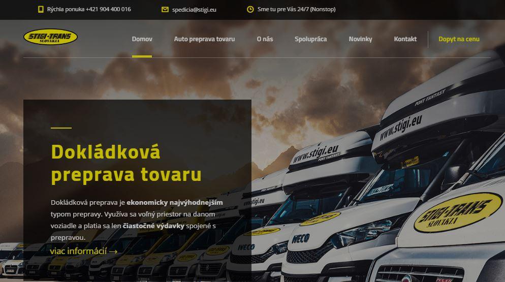Webstránka stigi